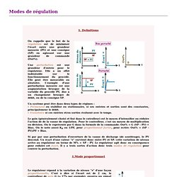Modes de régulation
