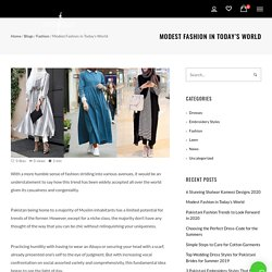 Modest Fashion in Today's World
