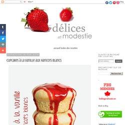 Cupcakes à la vanille aux haricots blancs