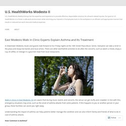 East Modesto Walk in Clinic Experts Explain Asthma and Its Treatment