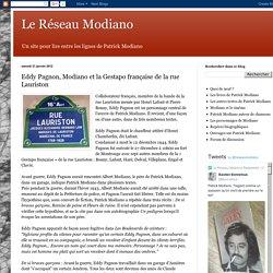 Le Réseau Modiano: Eddy Pagnon, Modiano et la Gestapo française de la rue Lauriston