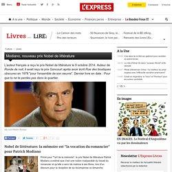 Modiano, nouveau prix Nobel de littérature