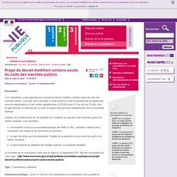 19/08 - 14/09/2015 Projet de décret - consultation
