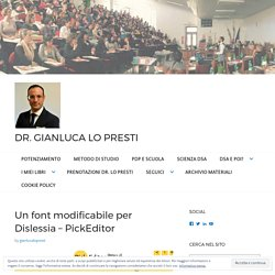 Un font modificabile per Dislessia – PickEditor