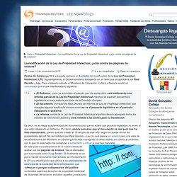 Modificación de la Ley de Propiedad Intelectual: ¿sólo contra las páginas de enlaces?