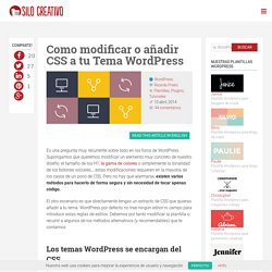 Como Modificar o Añadir CSS a tu Tema WordPress