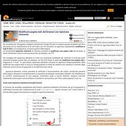 Modificare pagina web dal browser con Ispeziona elemento