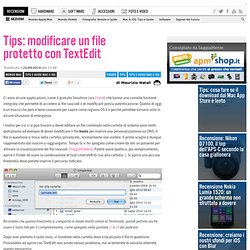 Tips: modificare un file protetto con TextEdit