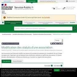 Modification des statuts d'une association - associations