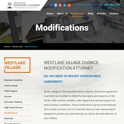 Divorce Modification Attorney Westlake Village