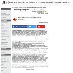 La modification du contrat de travail - Fiche pratique