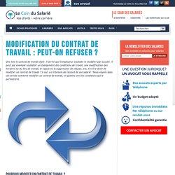 Modification du contrat de travail : peut-on refuser ?