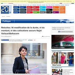 Aucun points de la réforme de N.Sarkozy serait à reconduire selon Najat Vallaud-Belkacem