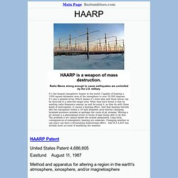 HAARP chemtrails weather modification electromagnetic weapons war EMF mind control secret weapons technology