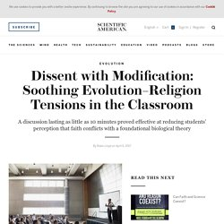 Dissent with Modification: Soothing Evolution–Religion Tensions in the Classroom