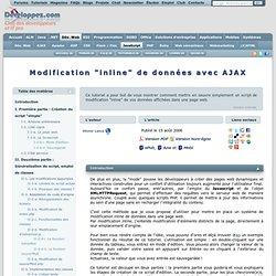 Modification \'inline\' de données avec AJAX