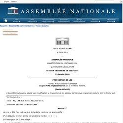 Texte adopté n°280 - Proposition de loi, adoptée sans modification, par l'Assemblée nationale, visant à mieux encadrer l'utilisation des produits phytosanitaires sur le territoire national