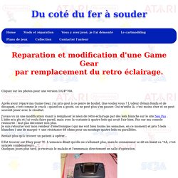 Modification retro éclairage d'une Game Gear