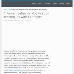 4 Proven Behavior Modification Techniques with Examples