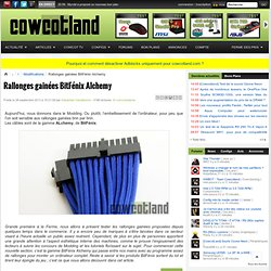[Cowcotland] Rallonges gainées BitFénix Alchemy - Modifications
