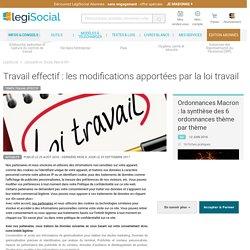 Travail effectif : les modifications apportées par la loi travail LégiSocial
