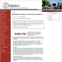 Modifications des règles du commerce du vin au Québec