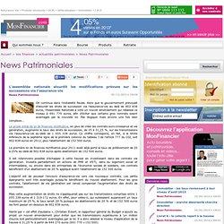 L'assemblée nationale alourdit les modifications prévues sur les successions via l'assurance-vie