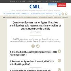 Questions-réponses sur les lignes directrices modificatives et la recommandation « cookies et autres traceurs » de la CNIL