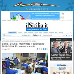 Sicilia: modificato il calendario scolastico 2018-2019. Ecco cosa cambia