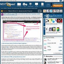 SFR modifie les pages HTML, pour le bien du client selon l'opérateur mobile