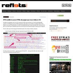 SFR modifie le source HTML des pages que vous visitez en 3G