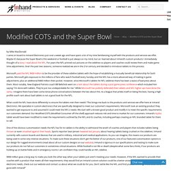 Modified COTS and the Super Bowl