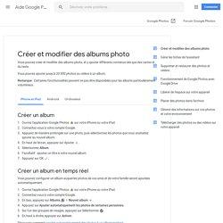 Créer et modifier des albums photo - iPhone et iPad - Aide GooglePhotos