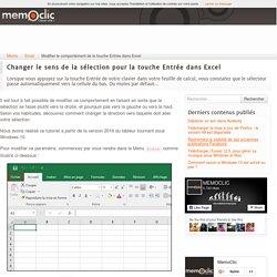 Modifier le comportement de la touche Entrée dans Excel