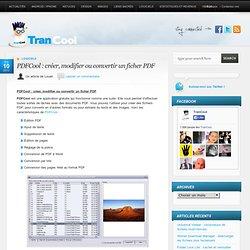 PDFCool : créer, modifier ou convertir un ficher PDF