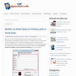 Modifier un fichier Epub sur Windows grâce à Tweak Epub