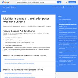 Barre de traduction - Centre d'aide Google Chrome