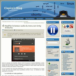 Modifier le lecteur audio du menu son Unity d'Ubuntu