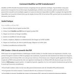 ⇒ Modifier un PDF - 20 Méthodes Gratuites pour Modifier un PDF ↓