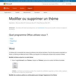 Modifier ou supprimer un thème - Support Office