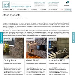 Decorate Your Walls with Faux Stone Wall Panels