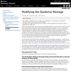 Modifying the Guidance Package