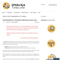 MODISMOS y FRASES HECHAS (Dele B2)