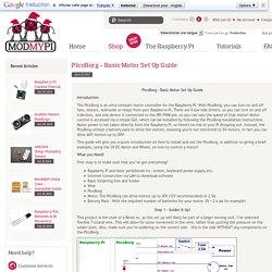 PicoBorg - Basic Motor Set Up Guide