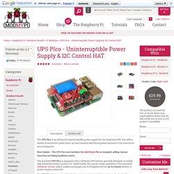 UPS PIco - Uninterruptible Power Supply & I2C Control HAT