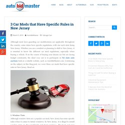 3 Car Mods that Have Specific Rules in New Jersey