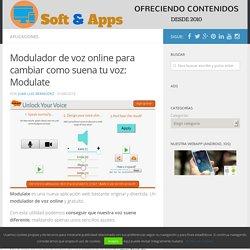 Modulador de voz online para cambiar como suena tu voz: Modulate