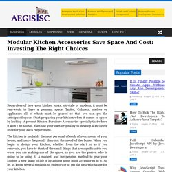 List out simple tips to set up low-cost modular kitchen