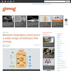 Modular biobattery plant turns a wide range of biomass into energy - Images
