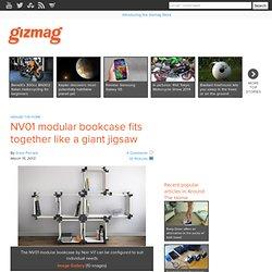 NV01 modular bookcase fits together like a giant jigsaw - Images